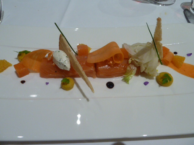 One course from our amazing meal at Restaurant Le Raiain