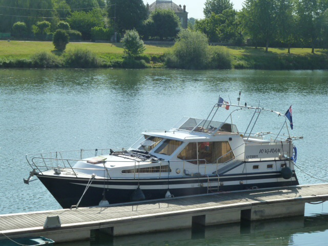 Our boat in Tournus