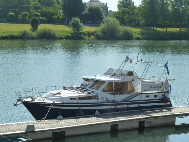 Our boat in Tournus