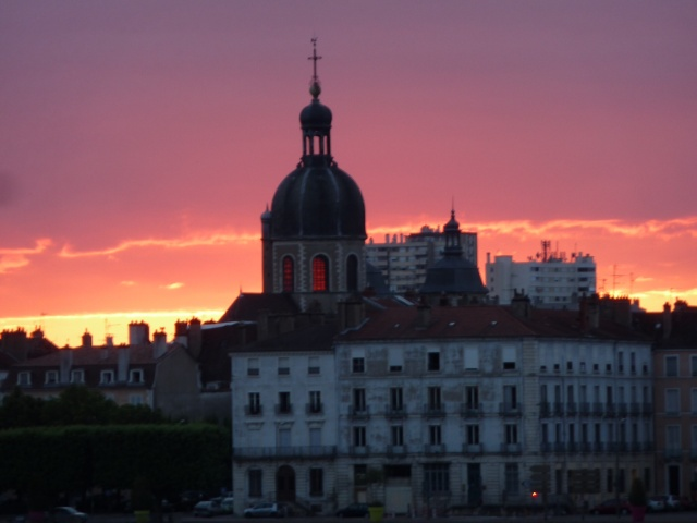 Sunset in Chalons-sur-Saone