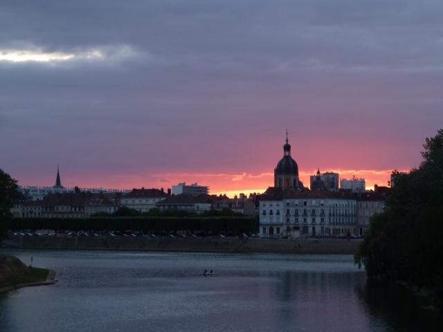 Sunset view, Chalon-sur-Saone
