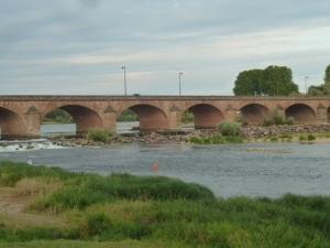 Nevers bridge over the Loire