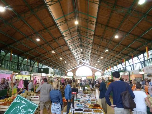 Joigny's inside market hall.