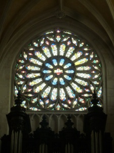 Gorgeous rose wheel window