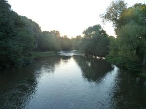 Great swimming spot on the Yonne in Villiers-sur-Yonne.