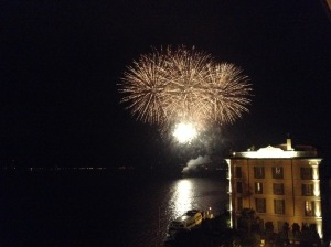 They put on fireworks to welcome us, Bellagio.