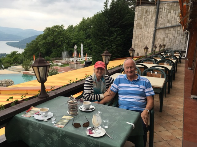 Coffee at the Hotel Silvanvs Visegrad.