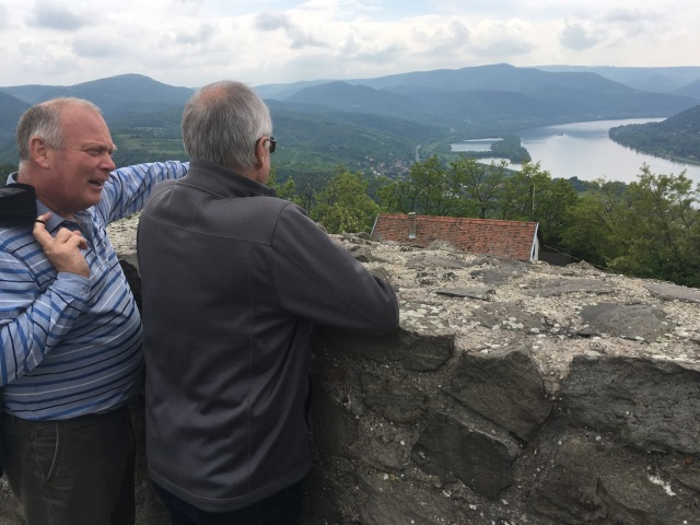 Alan and our wonderful host Janos looking out over the picturesque Danube