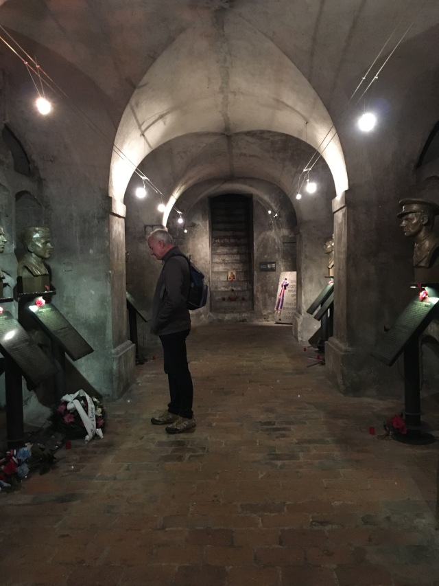 Inside the crypt of the Orthodox Cathedral of Sts Cyril and Methodius where the paratroopers met their deaths