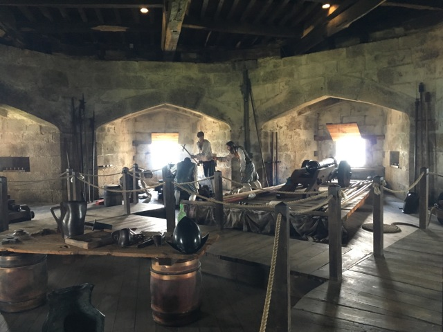 Inside Henry VIII fort there is a display showing how the guns were loaded and fired.
