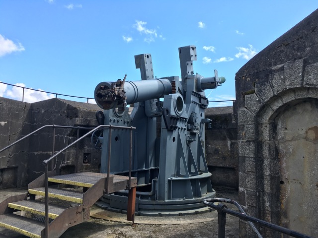 One Gun Battery with the Disappearing Gun