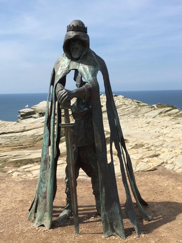 Striking King Arthur statue.
