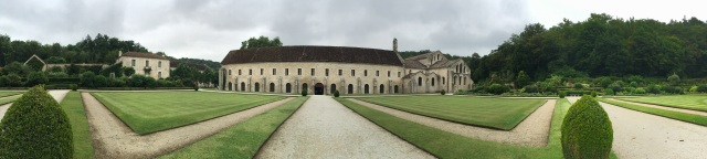Abbey de Fontenay view from the garden