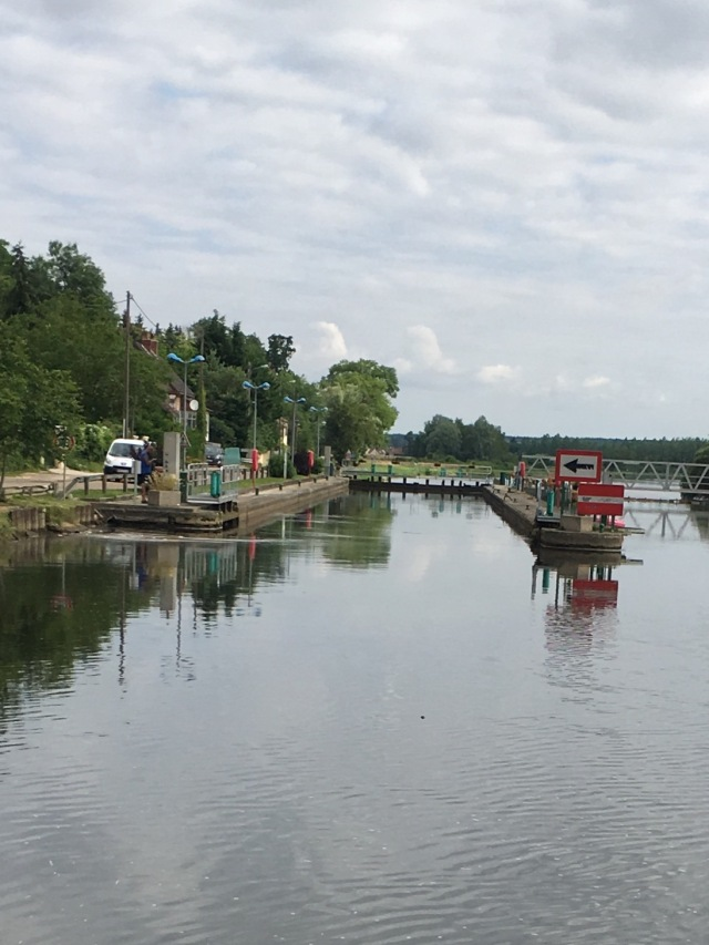 Entrance to the lock.
