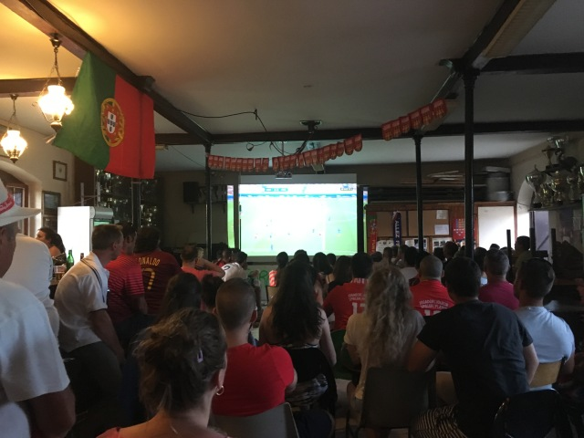 Inside the Portugal Football Club watching the France v Portugal Euro final