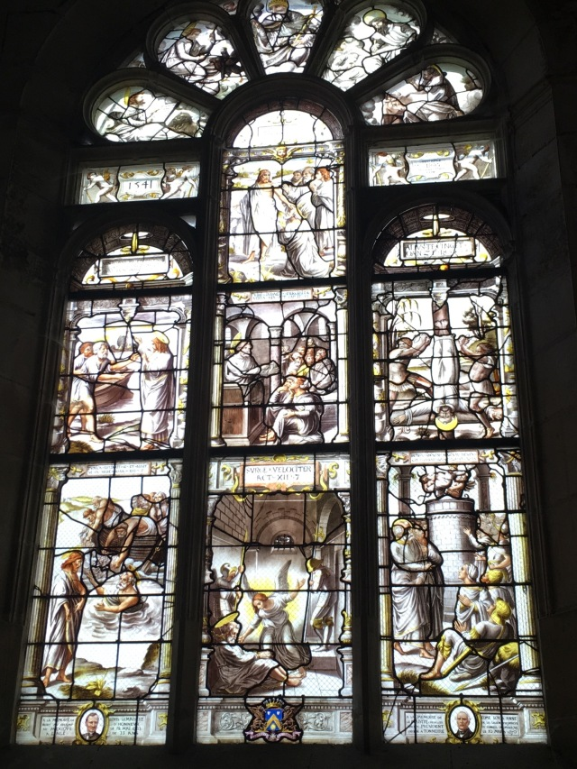 Stained glass windows dated 1541