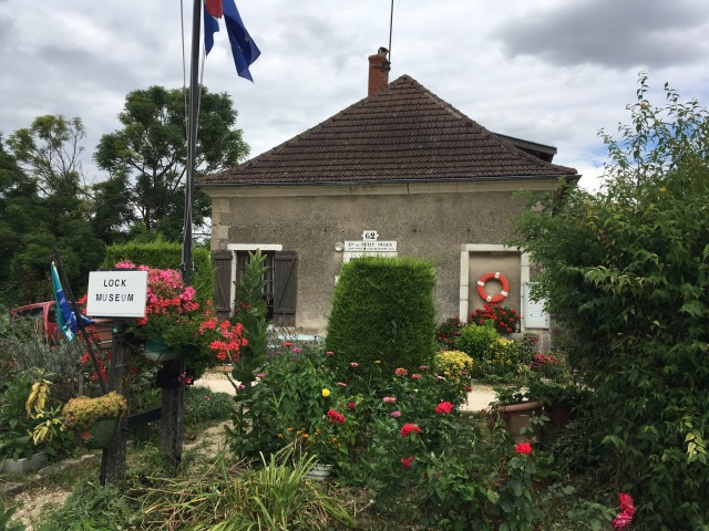 Lock cottage turned into a museum.