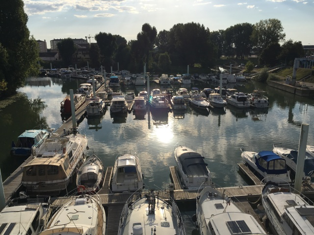 The Port de Plaisance in Chalon sur Saône. You can just see our boat.