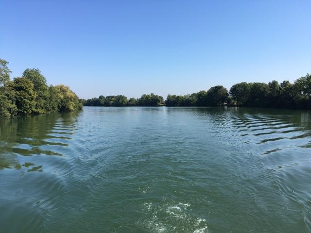 Back onto the Saône river.